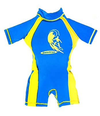 Boys Blue/yellow Floating Swimsuit Sun Protection Medium Age 3.5-5.5 Years