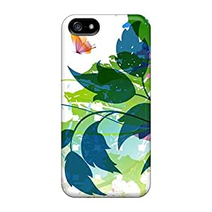 USMONON Phone cases Iphone Iphone 5 5s Case, Premium Protective Case With Awesome Look - Fantastic Spring Foliage