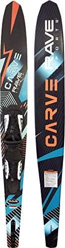 RAVE Sports Rave Sports Carve Slalom Water Ski - Adult, Black, Adult - Adjustable Bindings