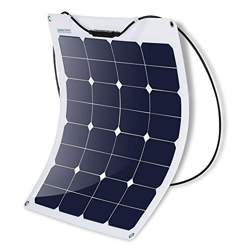 ACOPOWER 55W Flexible Panel, Thin Lightweight ETFE Solar Charger RV Boat Cabin Tent Caravan w MC4 Connector 12V Battery