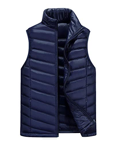 DianShaoA Jacket Gilets Dark Men's Blue Down Lightweight Coat Vest Padded Sleeveless C7pHC5q