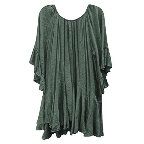 Tops Blouse Women Summer Fashion Boho Ruffle Shirts Butterfly Sleeve Irregular Tops Blouse ...