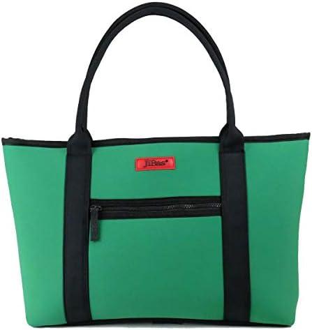 トートバッグ 鞄 カバン 無地 JiBas ジバス グリーン緑 614