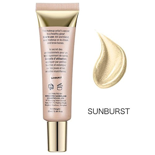 FTXJ 25ml Shimmer Liquid Highlighter Makeup Face Cheeks Nose Highlight Cream (Sunburst( Suit for Yellow Color Skin))
