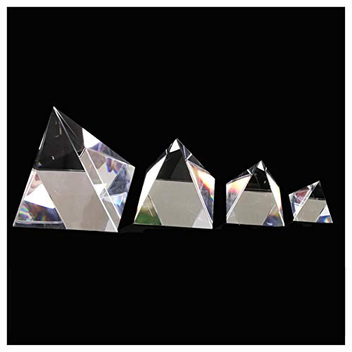 (K&A Company Science Education, 40/60/80/100mm Clear Optical Glass Pyramid Crystal Prism Optics Decoration Ornament DIY,)