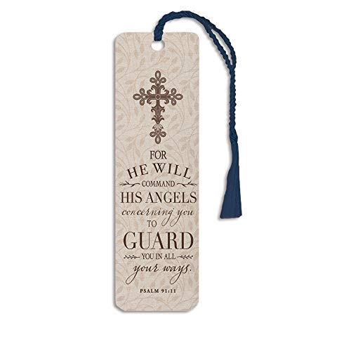 Angels Guard Psalm 91:11 2 x 6 Glossy Paper Bookmark with Tassle Pack of 12