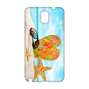 Evil-Store Artistic Beach starfish and glasses 3D Phone Case for Samsung Galaxy s5