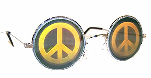 Peace Glass - Round Peace Sign Hologram 3d Unisex Sunglasses