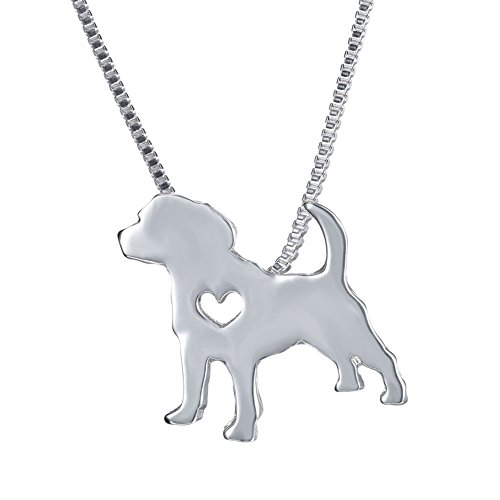 (WeiVan Beagle Dog Necklace Silver Puppy)
