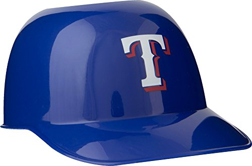 (Official MLB Mini Baseball Helmet 8oz Ice Cream/Snack Bowls, 1 Count, Texas Rangers)