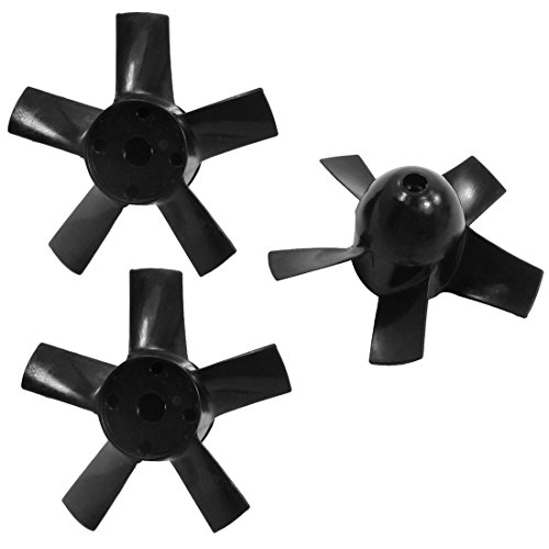Aexit 3pcs RC Electrical equipment Helicopter Parts Plastic 5 Vanes Ducted Fan Propellers 50mm