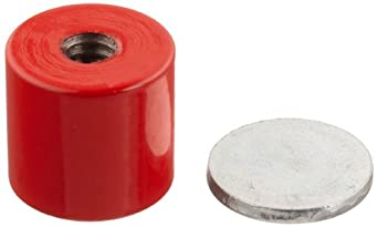 """Cast Alnico 5 Assembly With Keeper, 11/16"""" Diameter, 5/8"""" Thick, 1/4""""-20 Threaded Mounting Hole (Pack of 1)"""
