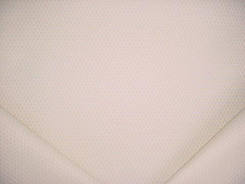 Matelasse Upholstery Fabric (170RT2 - Cream White Textured Diamond Trellis Lattice Geometric Matelasse Designer Upholstery Drapery Fabric - By the Yard)