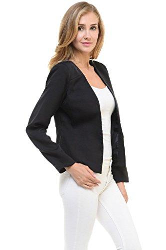 Auliné Collection Women's Candy Color Tailored Fit Open Suit Jacket