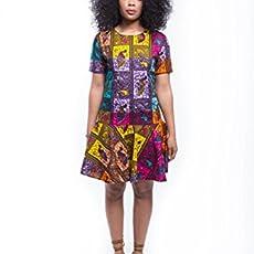 91b5ff2b88 Amazon.com  Women s African Print Wrap Dress - Rust  Handmade