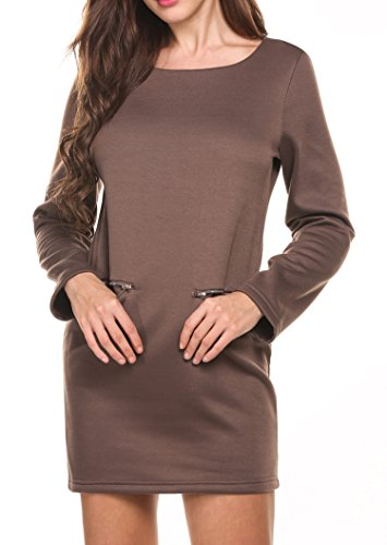 Kleid langarm khaki