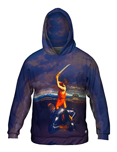 Yizzam- Guido Reni - David and Goliath (1610) -Allover Print - Mens Hoodie -4X