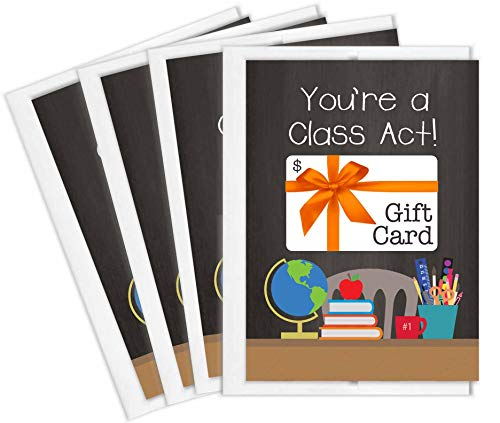 lders | Set of 4 Cards with Envelopes | Teacher Appreciation Gifts | Made in the USA ()