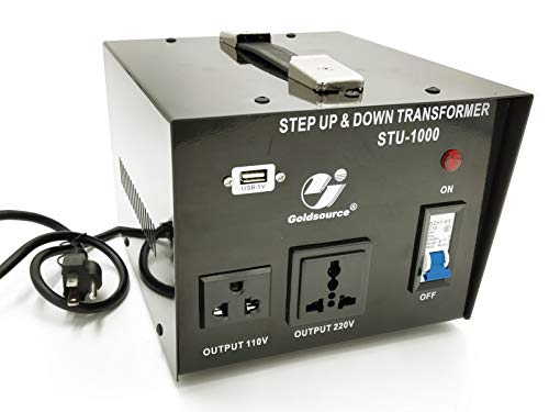 1000W Auto Step Up & Step Down Voltage Transformer Converter, STU-C Series Heavy-duty AC 110/220V Converter with US Standard, Universal, Schuko AC Outlets & DC 5V USB Port by Goldsource by Goldsource (Image #6)