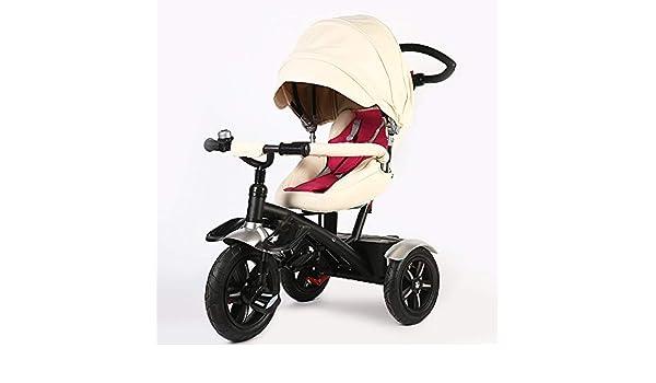 Sunzy Triciclo Manual para niños, Cochecito reclinable Giratorio ...