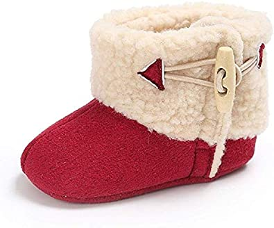 Baby Winter Snow Boots Premium Knit Anti-Slip Soft Sole Girls Boys Infant Prewalker Crib Shoes Best Gifts