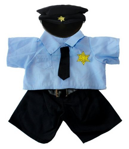 [Policeman Uniform Outfit Teddy Bear Clothes Fits Most 14 - 18 Build-A-Bear, Vermont Teddy Bears, and Make Your Own Stuffed Animals by Stuffems Toy] (Policeman Uniform)