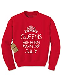 Expression Tees Queens Are Born In July Crewneck Sweatshirt