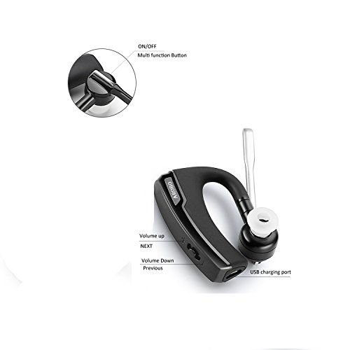 bluetooth headset arobo v8 wireless bluetooth 4 1 hd stereo headphones earbuds earpieces with. Black Bedroom Furniture Sets. Home Design Ideas