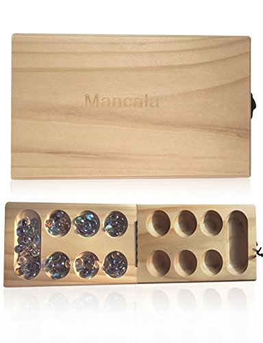 TL Mancala Game, Solid Wood Folding Mancala Board Game for ()