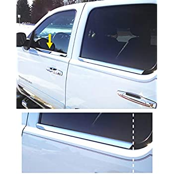 2001-2004 Toyota Tacoma Regular Cab//Ext Cab 2Pc Window Sill Trim Stainless Steel