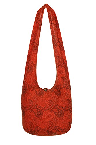 Thai Sling Bag Paisley Hippie Orange Monk ZZqrCYw
