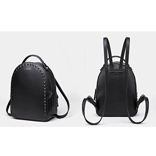 Mini Mochila Impermeable Para Niñas Ipad Mochila Ligera Clásica Black