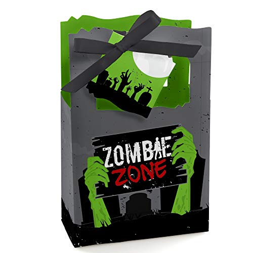 Zombie Zone - Halloween or Birthday Zombie Crawl Party Favor Boxes - Set of 12]()