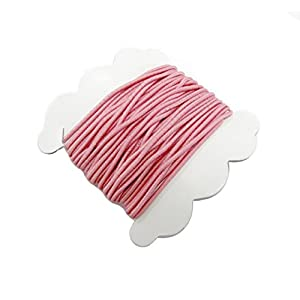 Pink elastic cord / 1.5 mm x 5 yds per card /2 cards per pack