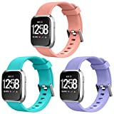 NEWLIBO Compatible Bands for Fitbit Versa, Sports Replacement Band for Fitbit Versa Smart Watch Accessories Band Adjustable Wristband Small Large Strap Women Men Girls Boys