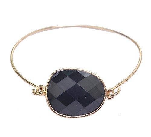 Gemma Gemstone Bracelet - Black