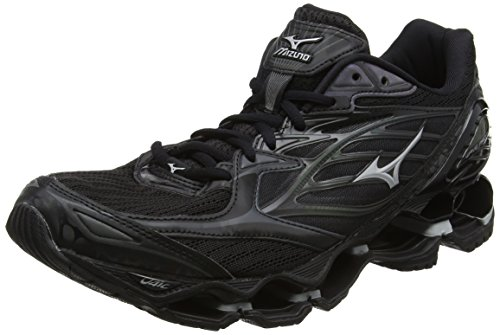 Mizuno Wave Prophecy 6 Nova, Zapatillas de Running para Hombre Negro (Black/silver)