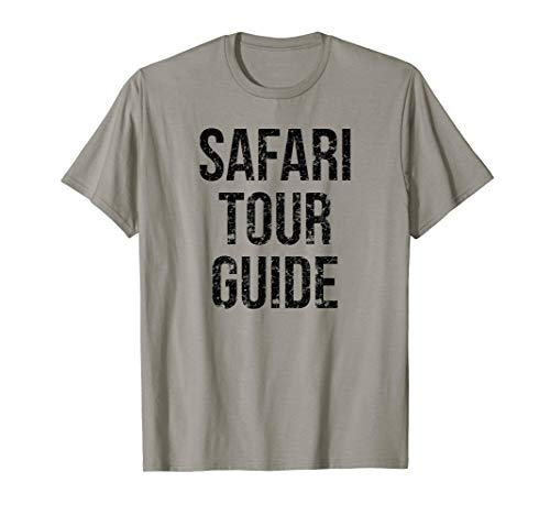 Safari Tour Guide Easy Funny Joke Halloween Costume T-Shirt ()