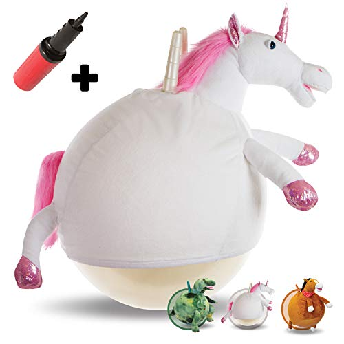 WALIKI Toys Hopper Ball for Kids Ages 6-9 | Hippity Hop Ball | Hopping Ball | Bouncy Ball with Handles | Sit & Bounce | Kangaroo Bouncer | Jumping Ball | Unicorn, Pump Included by WALIKI