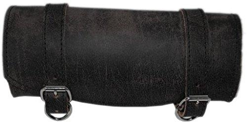 Plain Tool Bag - La Rosa Design Front Forks Tool Bag Rustic Black Leather Plain