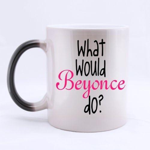 Popular music ventilador taza de café - lo que Beyonce do? Taza de café o té de la taza Morphing, Material de cerámica tazas - 11 oz: Amazon.es: Hogar