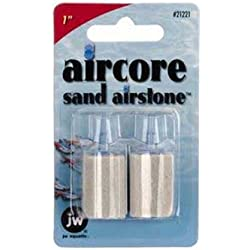 JW Pet Company 1-Inch Aircore Sand Airstone Aquarium Accessory, 2-Pack