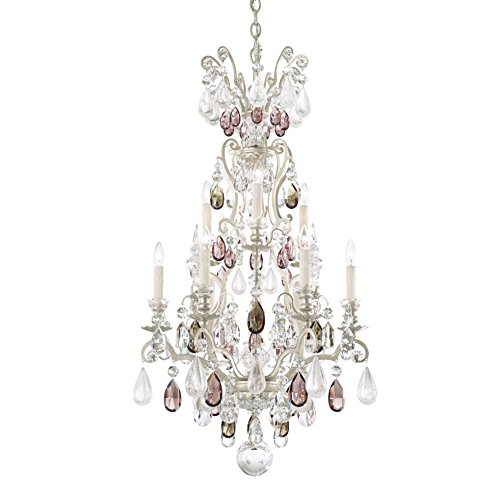 - Schonbek 3580-23OS Swarovski Lighting Renaissance Rock Crystal Chandelier, Etruscan Gold