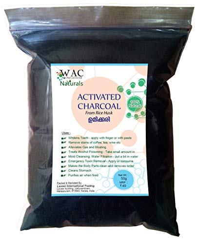 WAC Naturals Activated Charcoal from Rice Husk