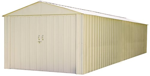 Storboss MHD1030 10 x 30 Ft. High Gable Galvanized, Eggshell Steel Storage Shed, 10' x 30', Neutral