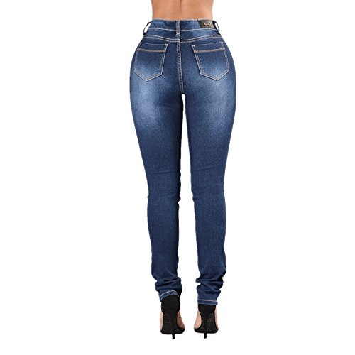 Jeans Blue Jeans de Mezclilla Cotton Stretch Grossartig Hole Sexy Blue Dark Slim Pantalones New dIXxn6qB