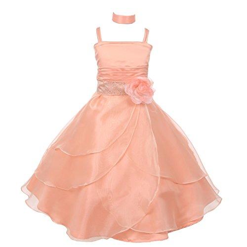 orange accent wedding dresses - 7