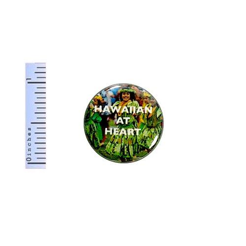 Hawaiian Button At Heart Hawaii Tropical Paradise Hula Dancers Pin Pinback 1