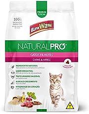 Ração Baw Waw Natural Pro para gatos filhotes sabor Carne e Arroz