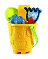 Summer Fun 8 Piece Children's Kid's Toy Beach/Sandbox Tool Playset, Comes with Bucket, Hand Tools, Sand Molds (Colors May Vary) by Sand Toys